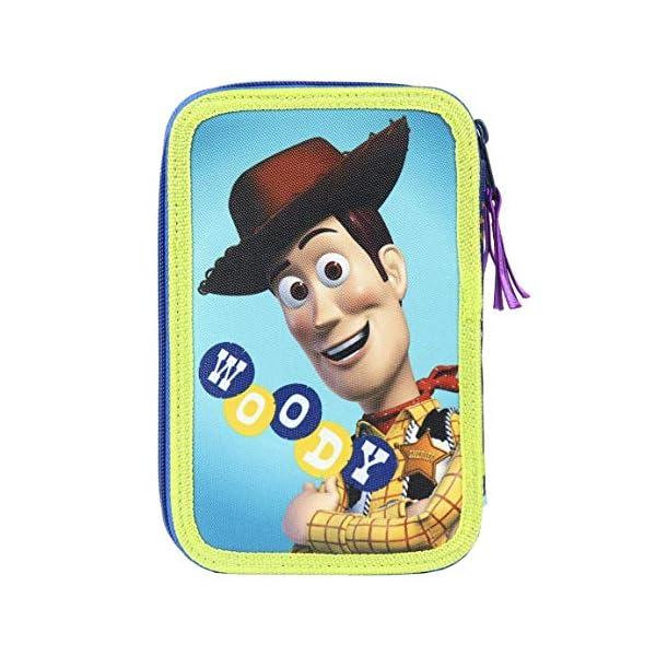 Cerdà Plumier Estuche Artesanía Premium de Cremallera Triple 3 Pisos Toy Story – Buzz – 43 Piezas Contenido Giotto…