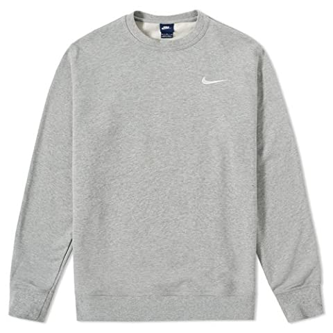 Nike Club ft Crew Pull pour homme M Gris (Dk Grey Heather / Blanco)