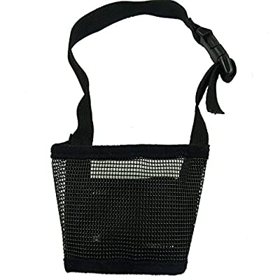 RayLineDo® Dog Mouth Muzzle Breathable Nylon Mesh Adjustable Biting Chewing Prevention Safety Belt Soft Pet Anti Barking Muzzles for Small Medium Large Dogs Size L In Black from RayLineDo