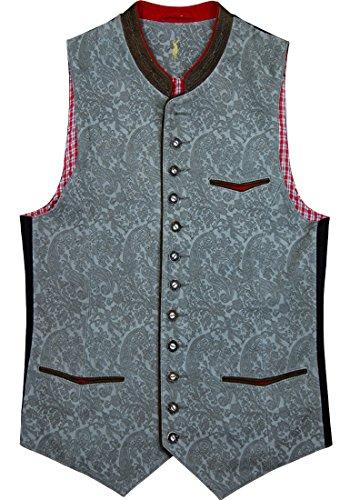 Almsach Trachtenweste Gilet Camillo Leder in verschiedenen Ausführungen, Größe:52;Farben:grey