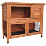 Bunny Business Double Decker Rabbit/ Guinea Pig Hutch, 41-inch