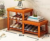 Schuhständer Bambusprodukte DIY Schuhständer Mehrgeschossiges Regal Multifunktionsschuhrahmen Kreativer einfacher Wechselschuhhocker