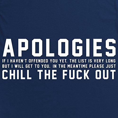 Apologies T-shirt, Uomo Blu navy