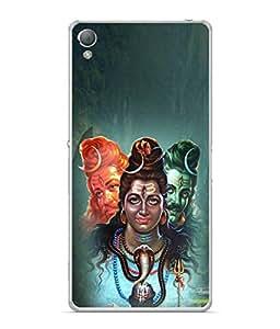 PrintVisa Designer Back Case Cover for Sony Xperia XA :: Sony Xperia XA Dual (Painting lord shiva god praying)
