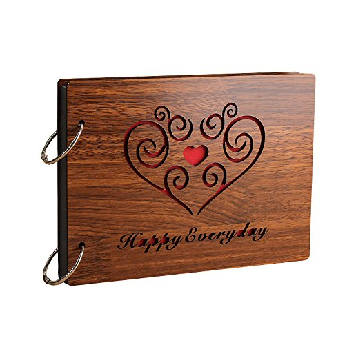 Sehaz Artworks 'HappyEveryday' Wood Pasted Photo Album (22 cm x 16 cm...