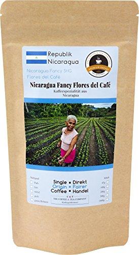 Kaffee Globetrotter - Kaffee Mit Herz - Nicaragua Fancy Flores del Café - 1000 g Ganze Bohne - für...