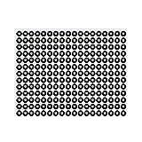 ULTNICE Adesivo strass Diamante Autoadesivo cristallo strass foglio per DIY di unghie/viso/pitture (nero)