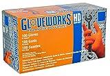 Ammex GWON Gloveworks Orange Nitrile Glove