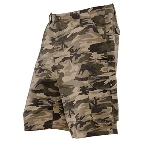 Dye Men's Vintago Camo Cargo Shorts, Multicolour, Size