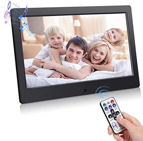 MYYYYI Digitaler Fotorahmen 10 Zoll, elektronischer Fotorahmen mit HD-LED-Anzeige, Unterstützung für USB/SD/MMC-Kartenwiedergabe und 720P / 1080P-Foto mit Infrarot