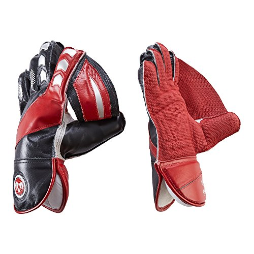 RAM Cricket Wicket Keeping Handschuhe Ultra Supple Leder mit Sauggriff - Option Innenhandschuh