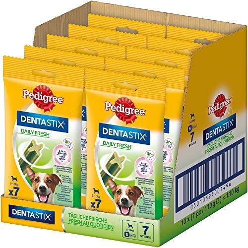 Pedigree Hundesnacks Hundeleckerli Dentastix Daily Fresh Zahnpflege 110 g, 10er Pack, (10 - Pedigree Dentastix