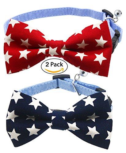 hollihi Handarbeit Liebenswürdig, PET Bow Ties–2er Pack verstellbares Hundehalsband Paisley Bowties Krawatten Kitty Puppy Pflege Zubehör für Doggy (Boy Kostüm Welsh)