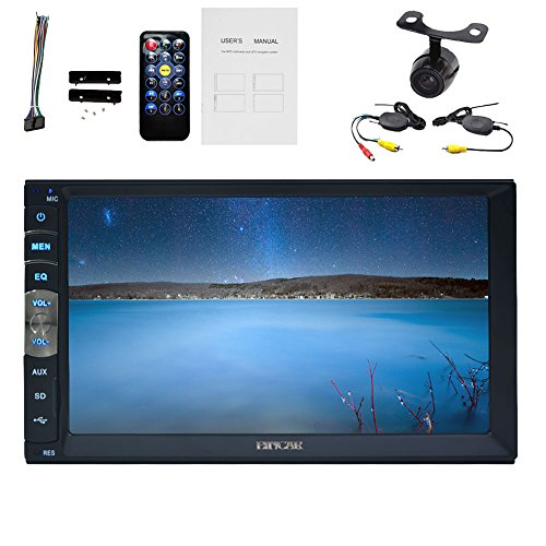 Eincar 2016 neues freies Backup-Kamera-Auto-Video-Player Linux-System 7 Zoll-Auto Autoradio Double 2 Din im Schlag-Steuerger?t Auto Stereo-LCD-Monitor MP3 / MP4 / USB / tf / AM / FM-Steuerger?t Car PC Bluetooth integrierte Spiegel Link