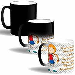 Print Operas Printed Designer Magic Mugs for Rakhi Festival-Dear Brother We are Together
