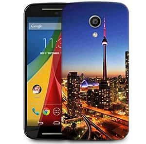 Snoogg Building Top Designer Protective Phone Back Case Cover For Motorola G 2nd Genration / Moto G 2nd Gen