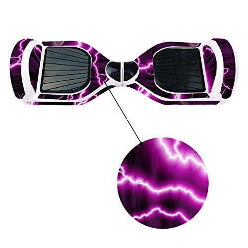 Elektro-Skateboards Elektro Scooter Self Balancing Scooter Aufkleber Elektroroller Roller Self Balance Board Sticker – Selbststabilisierendes Fahrzeug E-Board Schutzfolie Sticker Aufkleber – Purple Lightning von GameXcel ® - 5