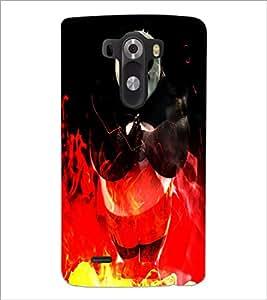 PrintDhaba Panda D-4386 Back Case Cover for LG G3 (Multi-Coloured)