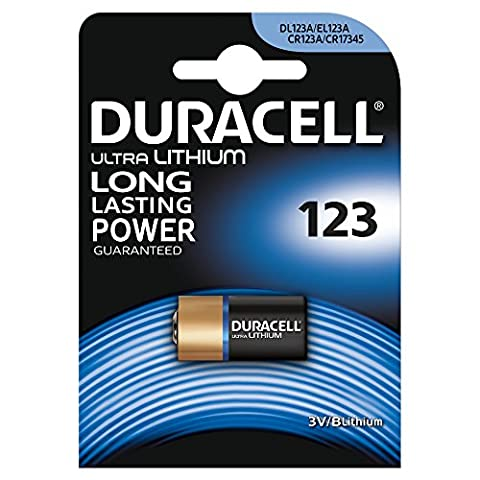 Duracell Spéciale Piles Ultra Lithium type 123, Lot de 1
