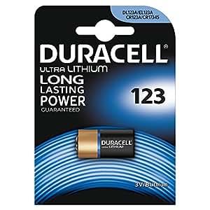 Duracell Spéciale Piles Ultra Lithium type 123, Lot de 1