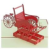 Biglietto 3D – Cyclo – Biglietto di auguri popup per compleanno, fatto a mano, Capodanno, Natale, vacanze, congratulazioni, carta artigianale