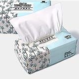 OUGEER Asciugamano in cotone monouso, Asciugamano in cotone pulito,Rimozione di Trucco e Superfici di Pulizia 100 pezzi per confezionee