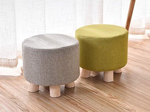 Jcrnjsb® sgabello per divano in legno massello sgabello panca