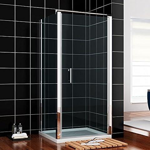 Duschkabine 80x80cm Duschabtrennung mit Duschtasse Duschwand Duschtür