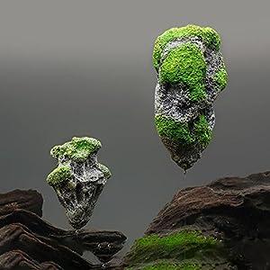 LA VIE Be Good Aquarium Decoration Artificial Floating Rocks Suspended Stone Ornament for Home Office Hotel Decor S/M/L