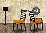 Banzaii Coprisedia seduta SUBITO FATTO universale per sedia cucina e sala da pranzo x 2 e x 4 in 16 colori (Giallo, 4)