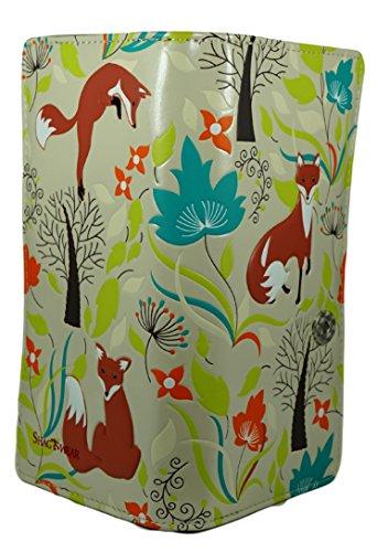 Shagwear portafoglio per giovani donne , Large Purse : Diversi colori e design : Foresta Volpi / Forest Foxes
