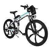 Speedrid Bici elettrica Pieghevole per Bici elettrica 26/20 Ebike Bici elettrica per Bici con Motore...