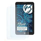 Bruni Schutzfolie kompatibel mit Kodak Tablet 7 Folie, glasklare Bildschirmschutzfolie (2X)