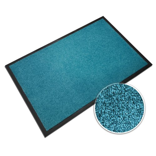 casa pura® Premium Fußmatte in attraktiver Optik | Schmutzfangmatte in 5 Größen | türkis | 90x150cm