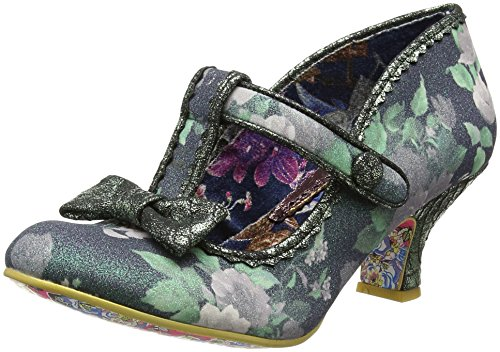 Irregular Choice Lazy River, Scarpe Col Tacco Donna Black (Black Floral)