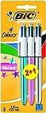 BIC 4 Colours Shine Ballpoint Pens 2+1 Pack
