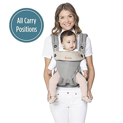 Ergobaby Babytrage Kollektion 360 (5.5 – 15 kg), Grey/Taupe