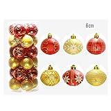 Christmas Ball Ornaments Decorative Hanging Tree Party Weihnachten Garten Dekorationen Weihnachtsschmuck Set, Xmas Balls Decorations Baubles Party Wedding Ornament 6cm