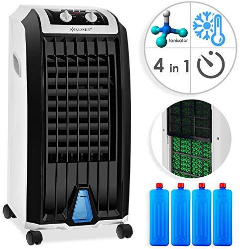 KESSER® 4in1 Mobile Klimaanlage | Klimagerät | Ventilator Klimaanlage | 7 L Tank Timer 3 Stufen | Ionisator Luftbefeuchter | Luftkühler | Weiß/Schwarz