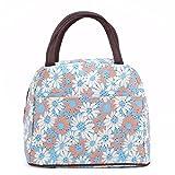 ZXKEE Sonnenblumen Hellblau Design Frauen Taschen Lunchpaket Wickeltasche