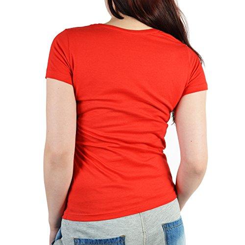 Damen T-Shirt zum Geburtstag: Geborene Super Heldin seit 1982 - Tolle Geschenkidee - Baujahr 1982 - Farbe: rot Rot