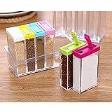 Caja para botellas de condimento tarro condimento contenedor de almacenamiento accesorio de hierbas especias tarros de 4y 6PSC dos estilos 6 Rectangle Set