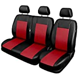 Saferide Universal Kunstleder Rot | Front BUS 1+2 Sitzbezüge Wohnmobil Sitzbezug Schonbezug Schonbezüge Autoschonbezug Autositzbezug Sitzauflagen Sitzschutz Comfort