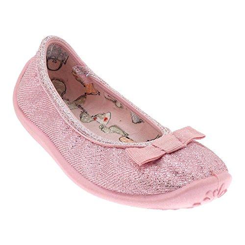 Gallux - Mädchen Freizeitschuhe Hausschuhe Schuhe tolle Ballerinas Rosa