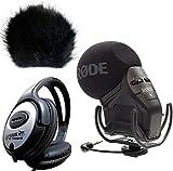 Rode SVM Pro Microphone stéréo VideoMic Pro keepdrum WS de BK Protection anti-vent + Casque