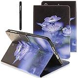 Slynmax Briefcase Tasche Flip Case Schutzhülle für iPad Pro 9,7 Zoll Hülle Wallet Case Etui LotusPU LederLederhülle FolioHandyhülle Schutz-Hülle Handytasche Klapphülle Ständer Karten Slotverschluss