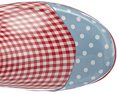 Playshoes Gummistiefel, Regenstiefel Landhaus, Oktoberfest, Aus Naturkautschuk, Bottes en caoutchouc à tige longue femme Rouge - Rot (rot 8)