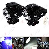 #10: AllExtreme 3000LM CREE U5 LED Front Light Motorcycle Driving Fog Spot light Truck Bicycle Travel Camp Lamp Night Headlight Black(pack of 2)
