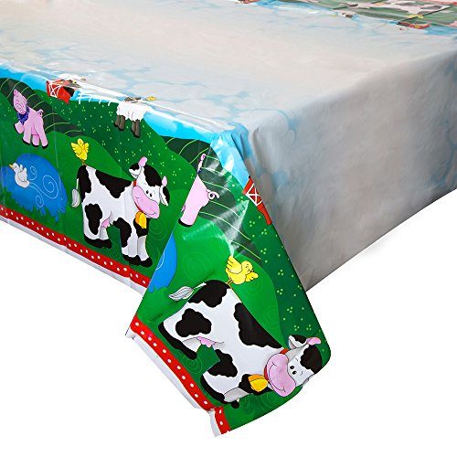 (Farm Party Kunststoff Tischdecke, 7ft x 4.5ft)