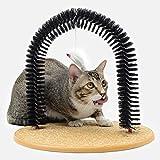 ZJELKY katzenbürste Massage und Enthaarungsbogen fellpflege Bürsten Katzen Kratzbogen Cat